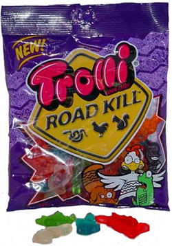 Road kill flavored candy